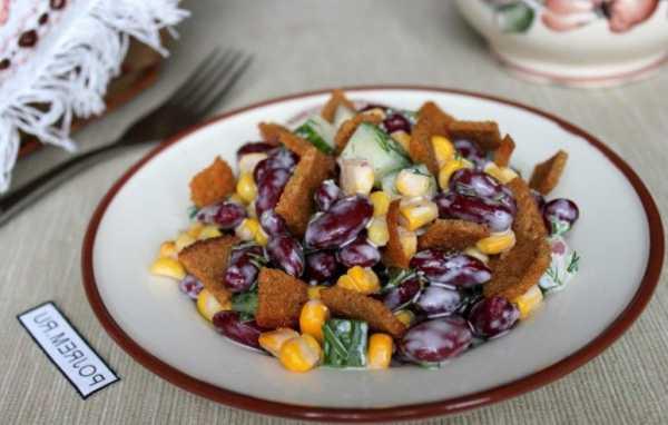 Салат с корейской морковкой на скорую руку