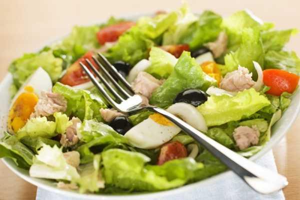 Салат из зеленой фасоли с тунцом консервированным